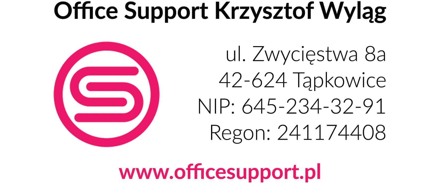 adres office support pieczątka firmowa