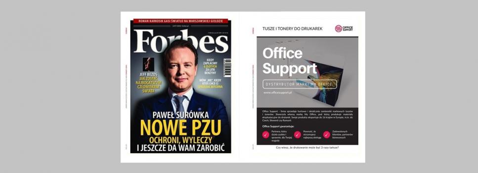 Dystrybutor marki My Office w dwutygodniku Forbes