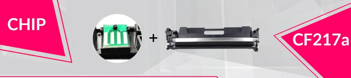 Toner CF217a z 100% nowym CHIPem
